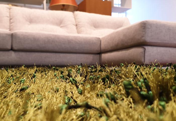 Occasione tappeto a pelo alto verde in offerta promozione